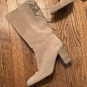 Coach Mid Calf Suede Boots